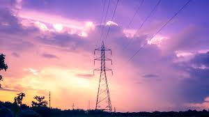Electricity-Tower-And-Purple-Sunset